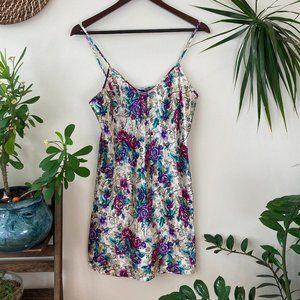 Vintage Floral Lingerie Slip Dress